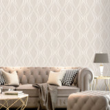 Amelie Geo Beige Wallpaper | Belgravia Decor 3003