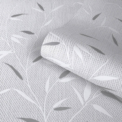 Amelie Leaf Grey Wallpaper | Belgravia Decor 3002