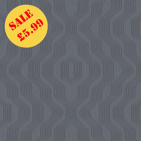 SALE Deco4Walls | Boutique Retro Petrol Blue | BT3410