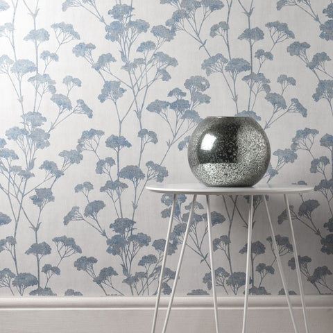 Tulsa Sprig Blue Wallpaper | CWV M1539
