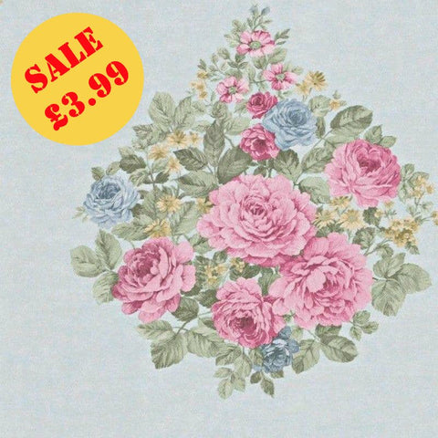 SALE Holden Decor Wallpaper | Harper Bouquet Blue/Pink | 98740