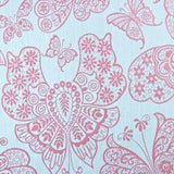 SALE Erismann Wallpaper | Butterfly Damask Pink/Grey | 1512-50
