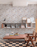 Grandeco Wallpaper | Facade Brick Neutral/Grey | FC2501