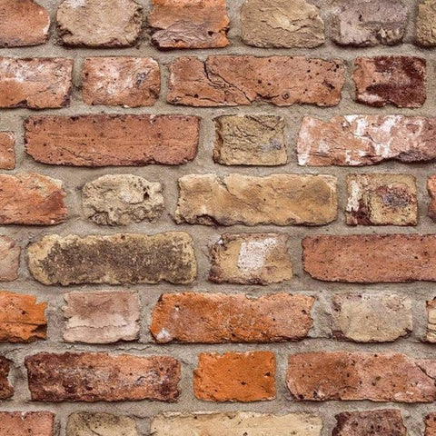 Grandeco Wallpaper | Facade Brick Natural | FC2502