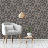 Shard Diamond Rose Gold Wallpaper | Fine Decor FD42607