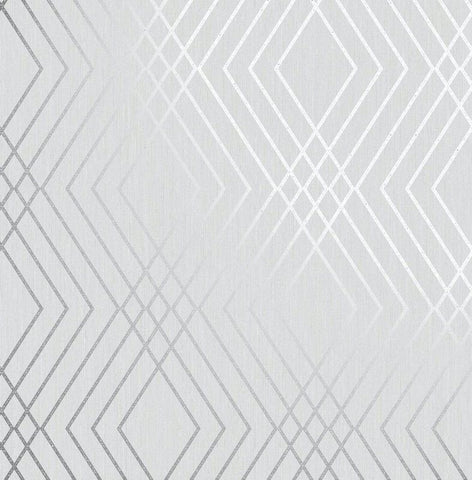 Shard Trellis Silver/Grey Wallpaper | Fine Decor Geometric FD42603