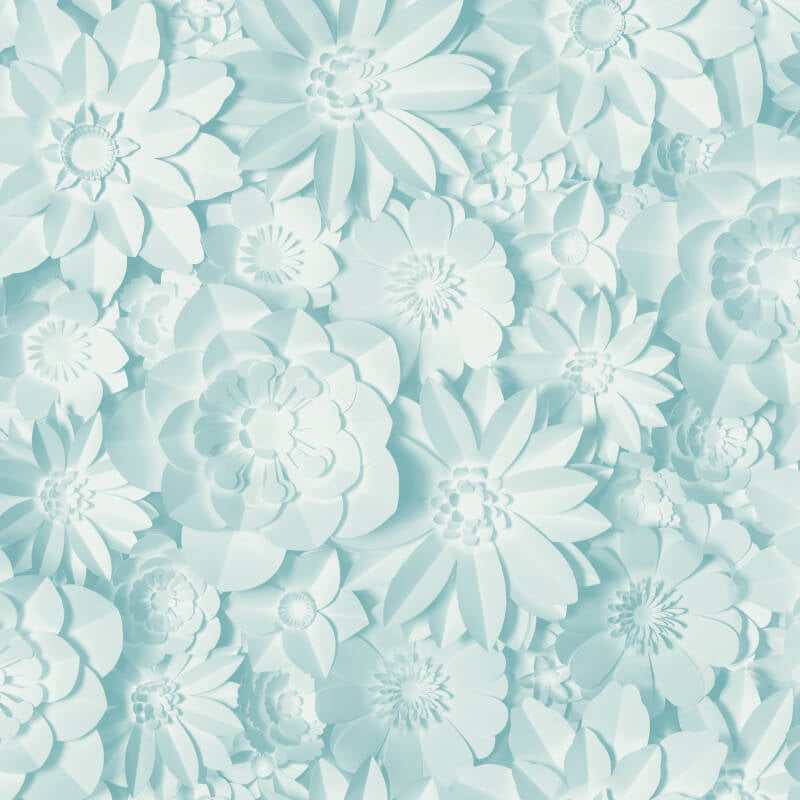 Fine Decor Wallpaper | Dimensions Floral Blue | FD42598