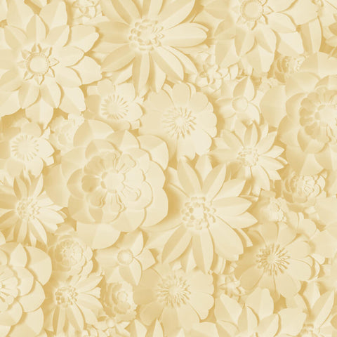 Fine Decor Wallpaper | Dimensions Floral Yellow | FD42597