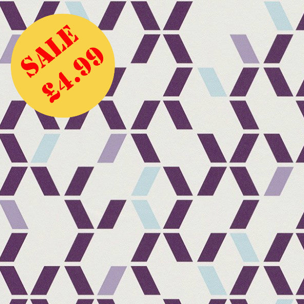 SALE Rasch Wallpaper | Just Me! Geo Purple | 286540