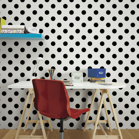 Dotty Black/White | Graham & Brown Wallpaper | 100104