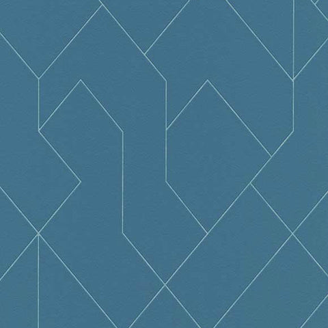 Erismann Wallpaper | Graphic Arts Geo Teal | 5417-08