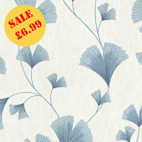 SALE Ugepa Wallpaper |  Life Style Fan Grey/Blue | L11501