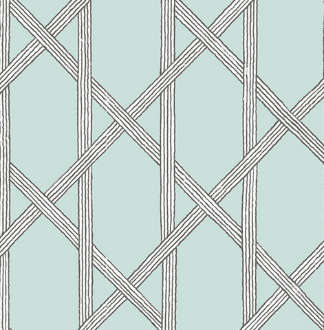 Exclusive Wallpaper   |   Linear Geometric Duck Egg   |   FD22420