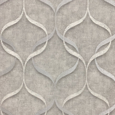 Milano Wave Grey/Silver | Fine Decor Wallpaper | M95616