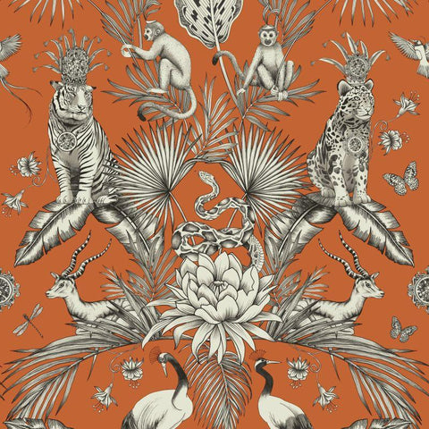 Belgravia Wallpaper | Menagerie Teal Orange | 2002