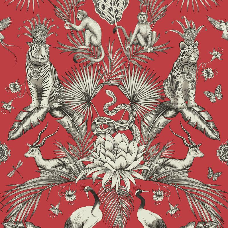 Belgravia Wallpaper | Menagerie Red | 2003