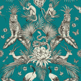 Belgravia Wallpaper | Menagerie Teal Blue | 2004