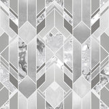 Elixir Geo Silver Wallpaper | Muriva Elixir Collection 167501