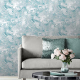 Muriva Wallpaper | Elixir Marble Teal | 166503