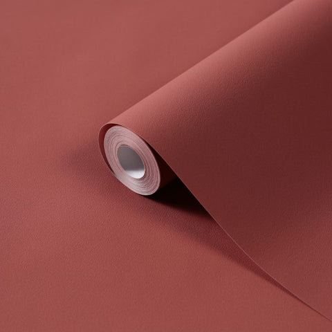 Denzo Plain Russet Wallpaper | Rasch Denzo 806878 | Rust Orange Wallpaper