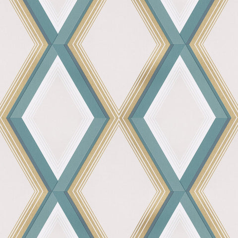 GranDeco Opus Wallpaper | Adagio Teal Blue | OS3410