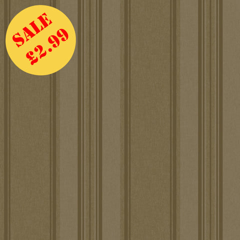 SALE Rasch Wallpaper | Roma Stripe Taupe/Gold | 208740