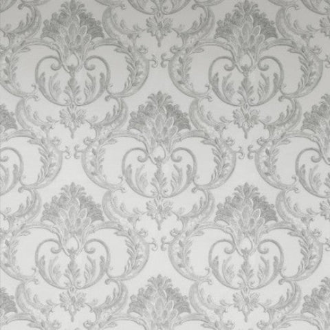 Debona Exclusive Wallpapers | Perla Damask Silver | 9091