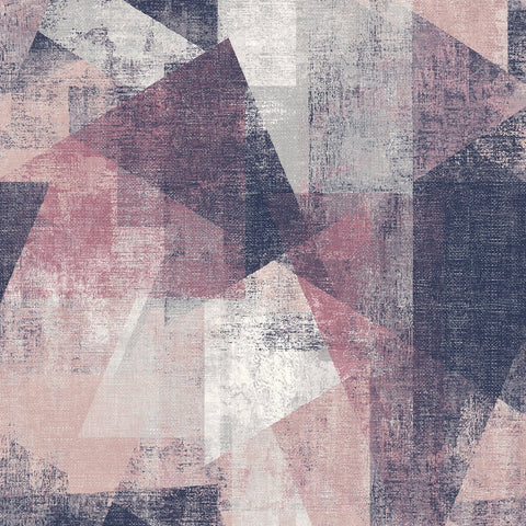 GranDeco Life Wallpaper | Vincent Pink/Navy | PP3603
