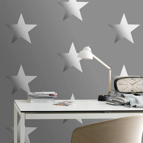 Portfolio Star Silver Wallpaper | Rasch Kids Wallpaper 248197
