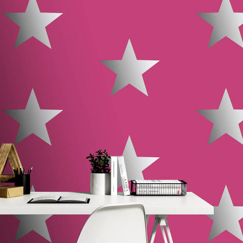 Portfolio Star Pink Wallpaper | Rasch Kids Bedroom 248180