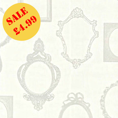 SALE Rasch Wallpaper | Mirror Mirror Ivory | 471601