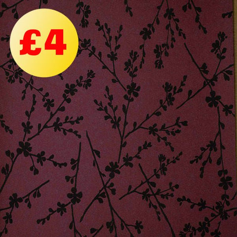 March Wallpaper Clearance | Silhouette Burgundy/Black | FD54160