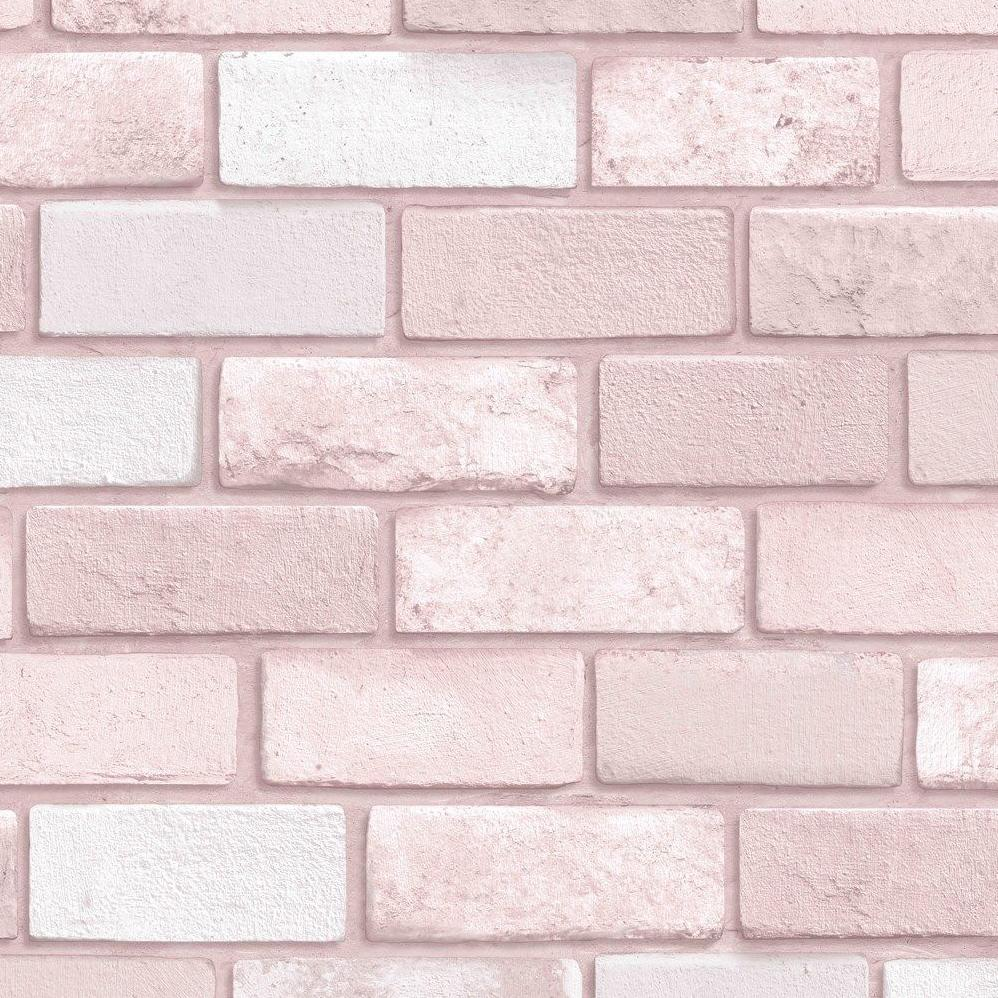 Arthouse Glitter Wallpaper | Diamond Pink Brick | 260005