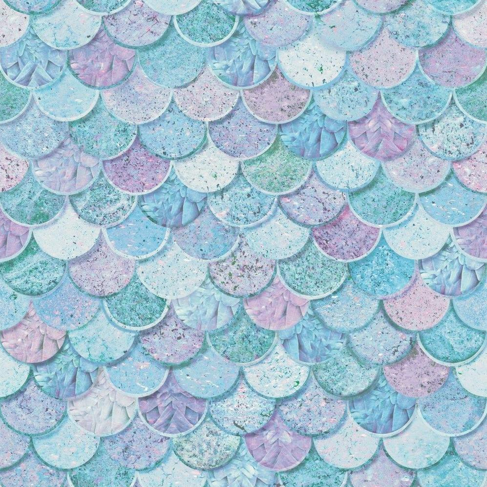 Arthouse Glitter Wallpaper | Mermazing Scales Ice Blue | 698305