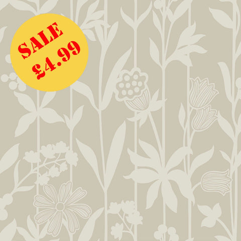 SALE Rasch Wallpaper | Finsbury Silhouette Taupe | 292817