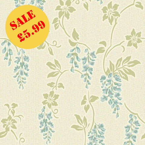 SALE Holden Wallpaper | Shiro Teal/Green | 75683