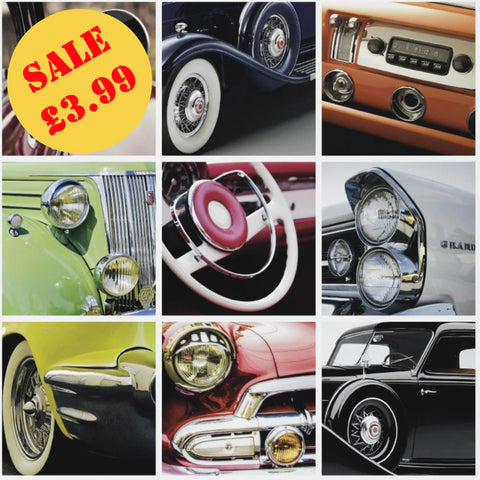 SALE Debona Wallpaper | Vintage Car Multi | 6347