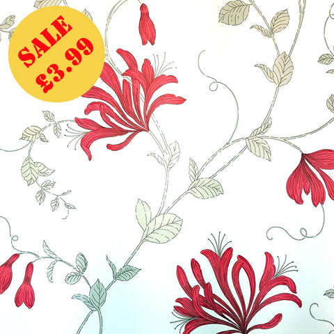 SALE CWV Wallpaper | Amelie Red | M1304