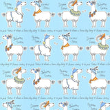 SALE Belgravia Wallpaper | Llama-Rama Sky Blue | 9730