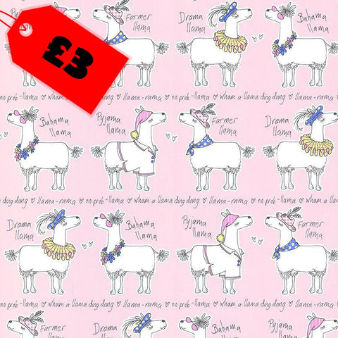 CLEARANCE Kids Bedroom Wallpaper | Llama-Rama Blush Pink | 9731