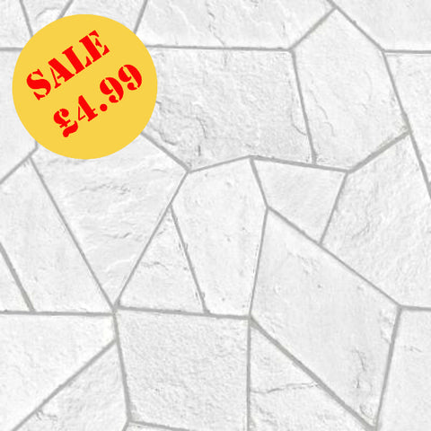 SALE Arthouse Wallpaper | Concrete Angles White/Grey | 693604