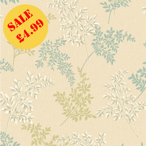 SALE Holden Wallpaper | Regent Green/Cream | 65040
