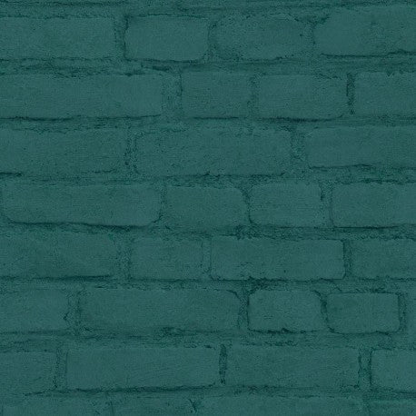 New Studio Brick Green Wallpaper | AS Creation 37414-5