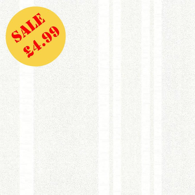 SALE AS Creation Wallpaper | Burlington Stripe Ivory/Silver | 32754-1