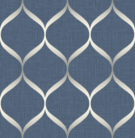 Pear Tree Studios Wallpaper | Trellis Navy | UK21202