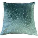Zircon Teal Diamond Cushion| Feather Filled | Malini Designs