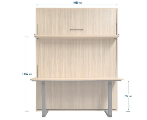 Queen Size with Desk & Shelf