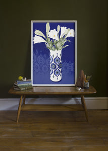 AK Kaiser Vase with Lilies by Helen Kirkpatrick <br>Painting