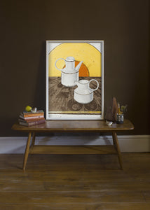 Stonehenge Coffee Pot & Jug by Helen Kirkpatrick <br>Painting