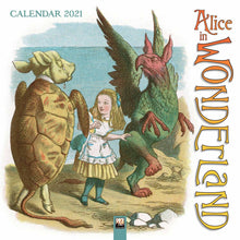 Load image into Gallery viewer, Alice in Wonderland Wall Calendar 2021